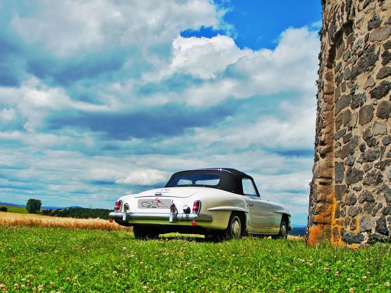 TELO COPRIAUTO TELATO FELPATO PER MERCEDES 190 SL W121 B II CABRIOLET ANNO 1962